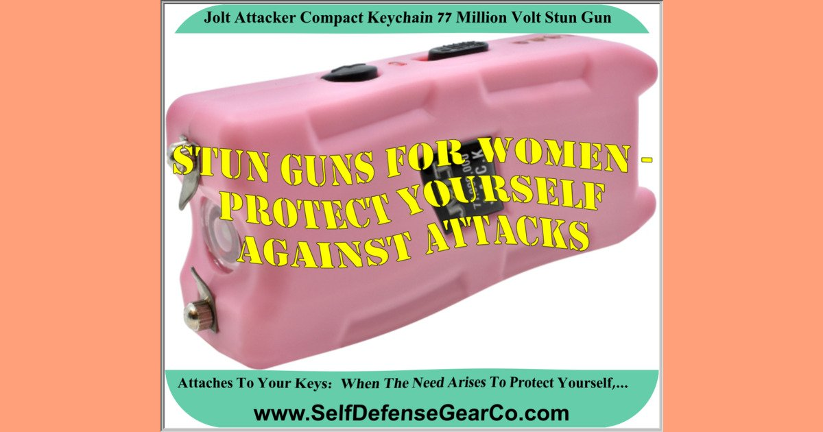 Jolt Attacker Compact Keychain 77 Million Volt Stun Gun