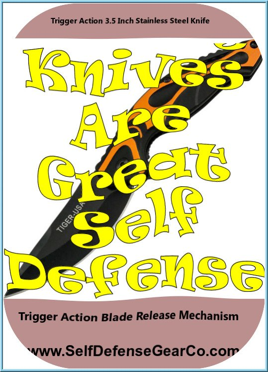 Trigger Action 3.5 Inch Stainless Steel Knife