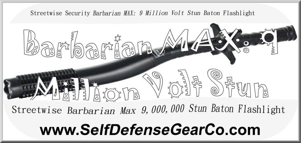 Streetwise Security Barbarian MAX: 9 Million Volt Stun Baton Flashlight