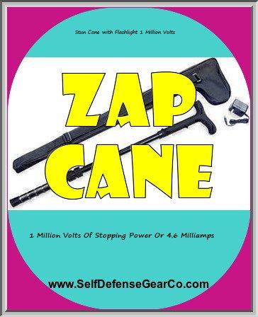 Stun Cane with Flashlight 1 Million Volts
